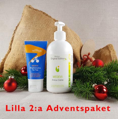 Lilla 2:a adventspaketet: Fotpaket Arnica crème och Ringblomsalva med Tea tree