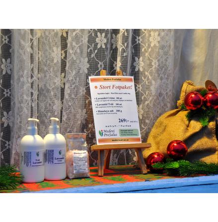 Fotpaket med Lavendelcrème, -tvål och Himalayasalt